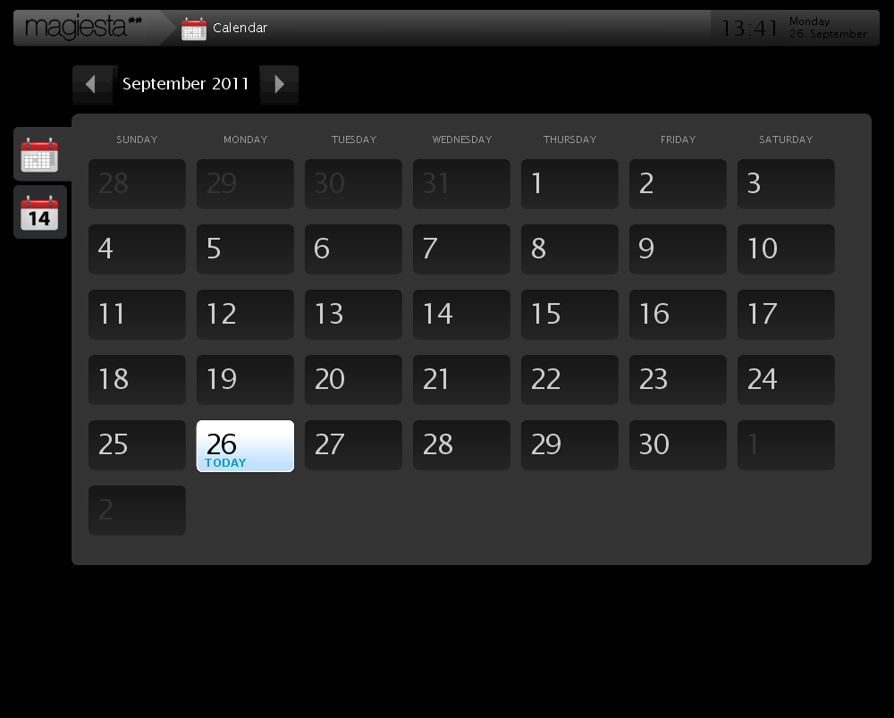 Magiesta Screenshot - Calendar