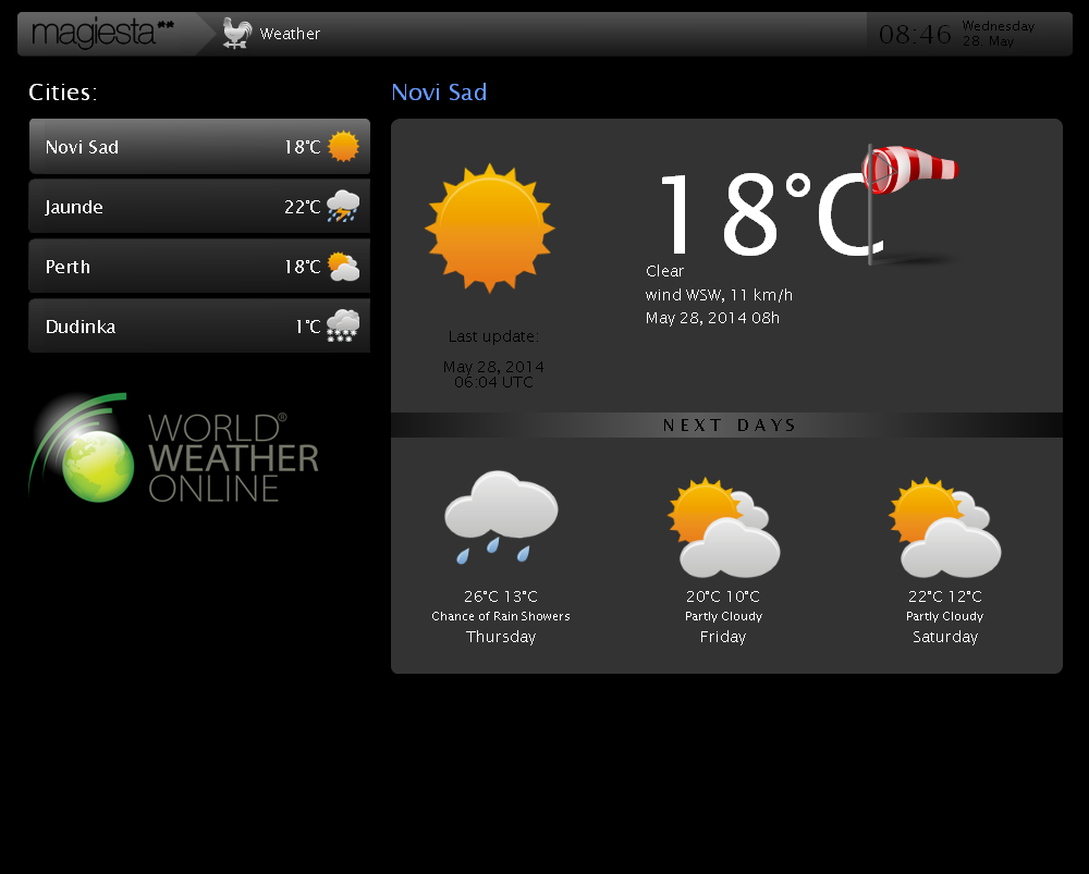 Magiesta Screenshot - Weather